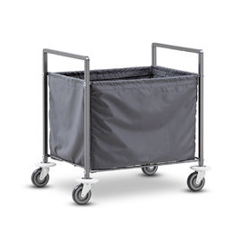 Cina Square Metal Hotel Style Bagasi Keranjang / Knock Down Chrome Laundry Truck Cart pabrik