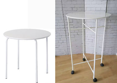 Cina Home Round Metal Table For Kid / Durable Store Promation White Metal Table pabrik