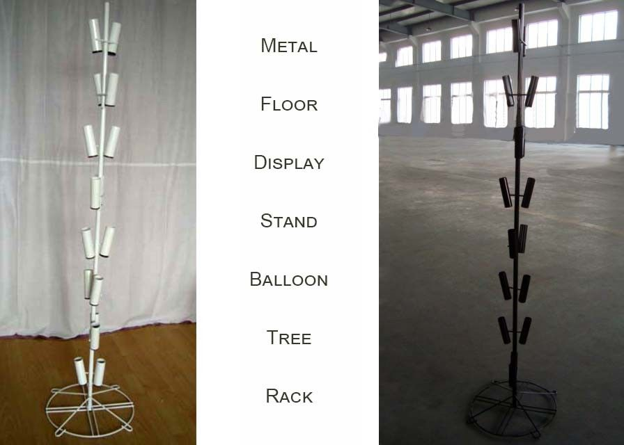 Balloons Tree Metal Floor Display Stands / 16 Tubular Holder Metal Display Rack
